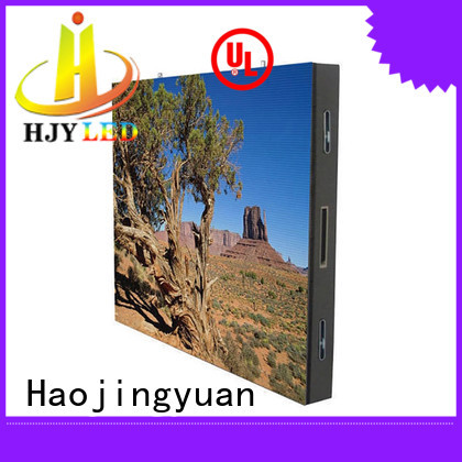 Haojingyuan indoor mobile led display Supply for school