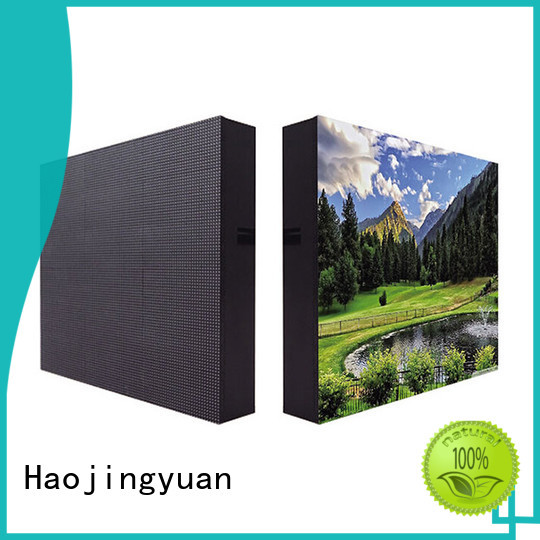 Haojingyuan customized indoor fixed led screen outdoor use for lobby
