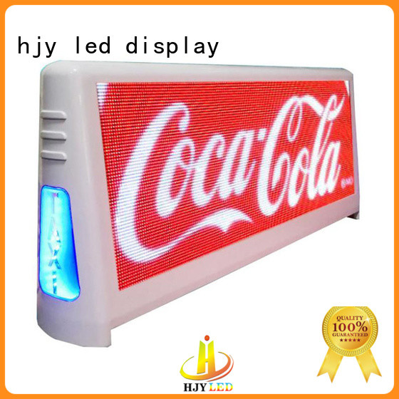 Haojingyuan New taxi led display factory for shopping mall