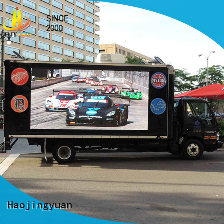 Haojingyuan top mobile led display Custom outdoor for for house