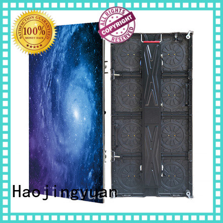 Haojingyuan full led stage backdrop screen from China for concert