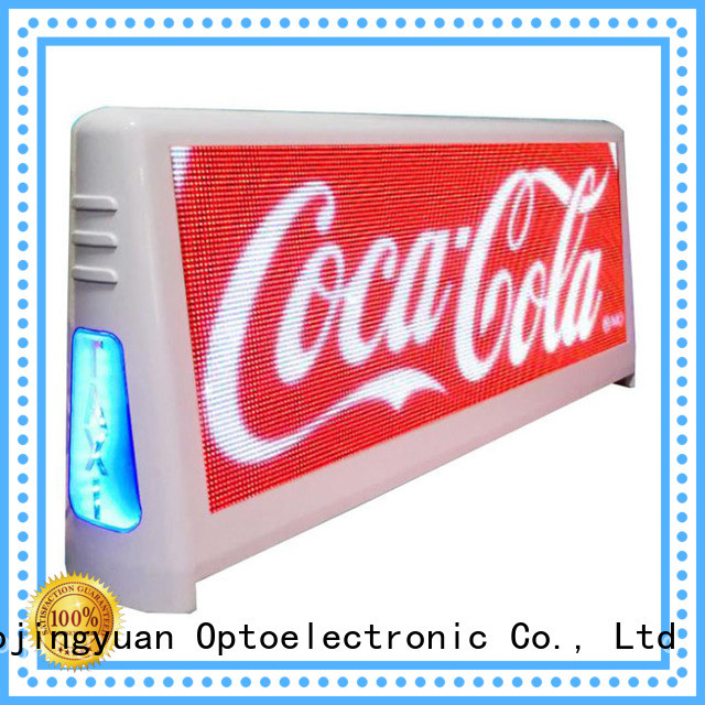 Haojingyuan practical taxi top led display wholesale suppliers for wedding