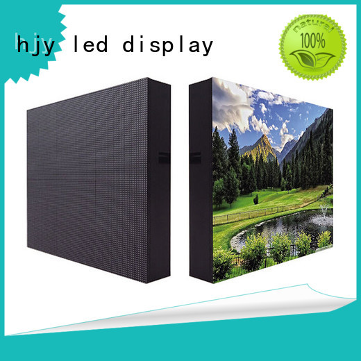 Haojingyuan modern outdoor advertising led display screen color for hotels