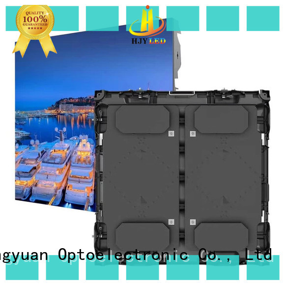 Haojingyuan board large stadium led display screen Suppliers for salon