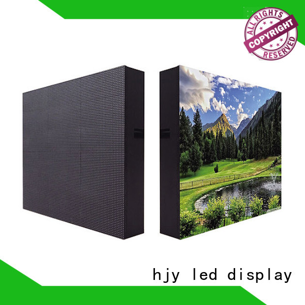 Haojingyuan unique design waterproof led display board Fixed outdoor use for school