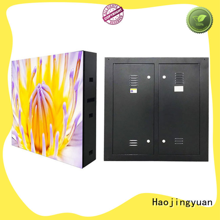 Haojingyuan color outdoor fixed led display theme parks for hotels