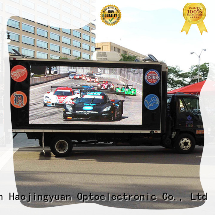 Haojingyuan fashionable truck mobile led display custom outdoor for for house