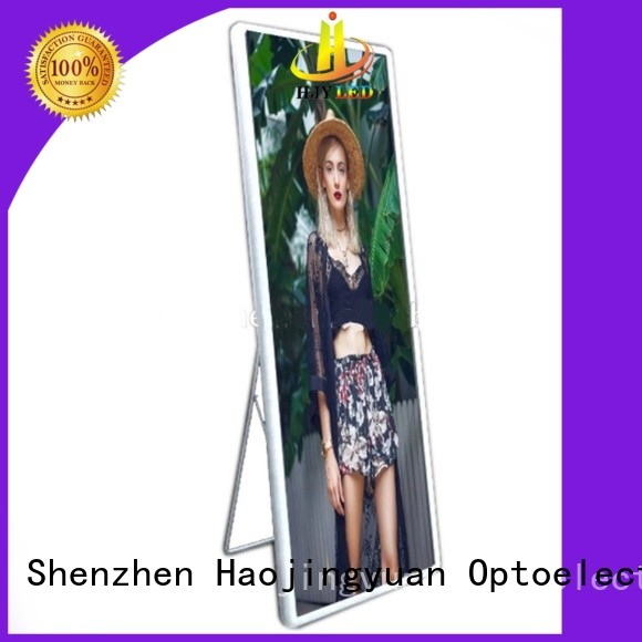 Haojingyuan different style poster led display lightweight for air port