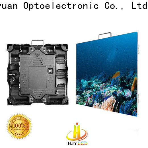 Haojingyuan backdrop high definition led display factory for building