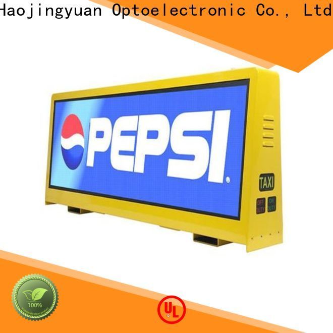Haojingyuan taxi taxi top led display Suppliers for shopping mall