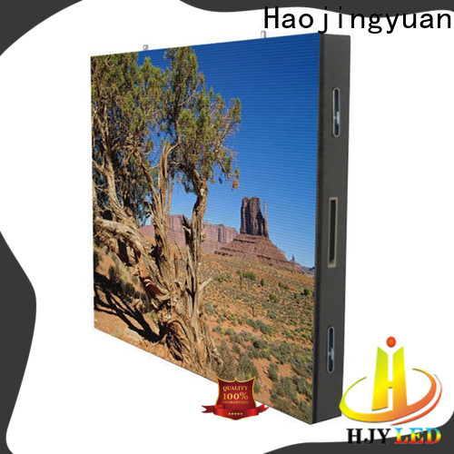 Haojingyuan service led display fixed factory for school