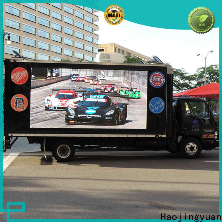Haojingyuan Top truck led display for business for for house