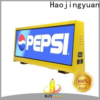 Haojingyuan sign taxi top led display factory for shopping mall