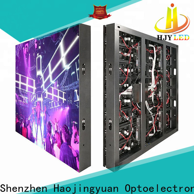 Haojingyuan full led display sign led fixed for business for hotels