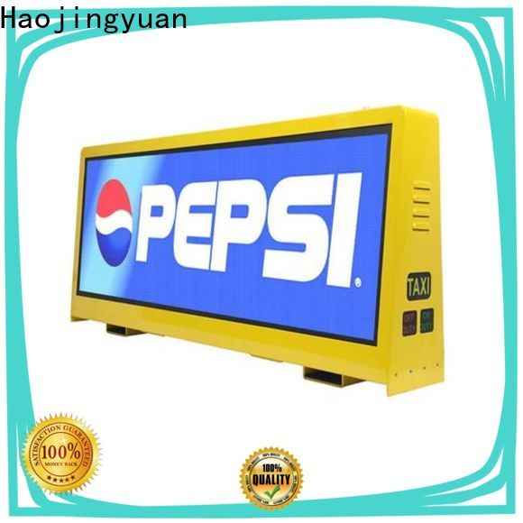 Haojingyuan Top taxi top led display Supply for restaurant