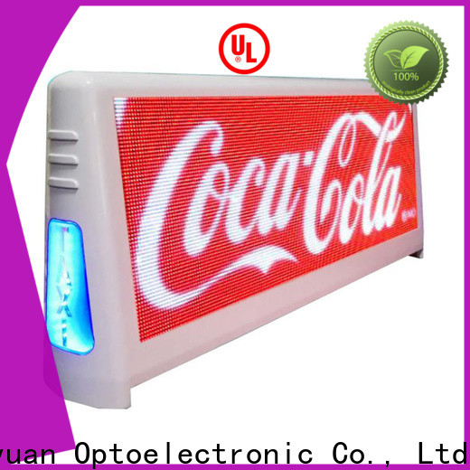 Haojingyuan Custom taxi top led display manufacturers for shopping mall