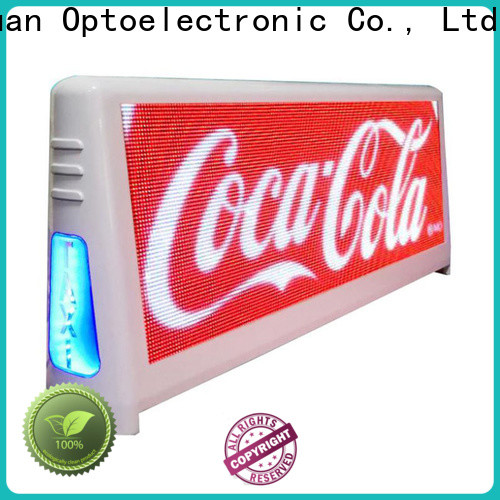 High-quality taxi top led display led for business for restaurant