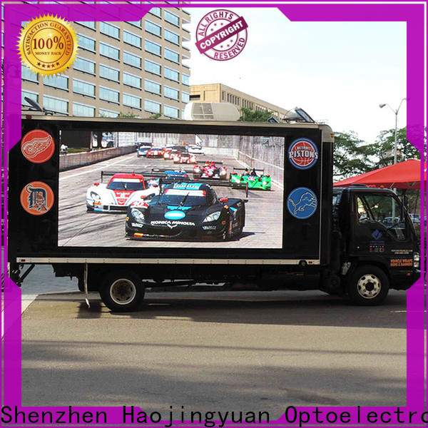 Top truck advertising mobile led display poster manufacturers for birthday party