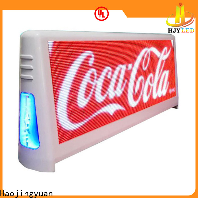 Haojingyuan Custom taxi led display manufacturers for wedding