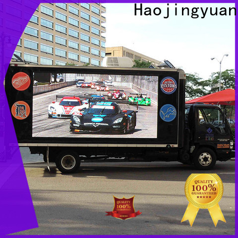 Haojingyuan indoor truck led display for business for birthday party