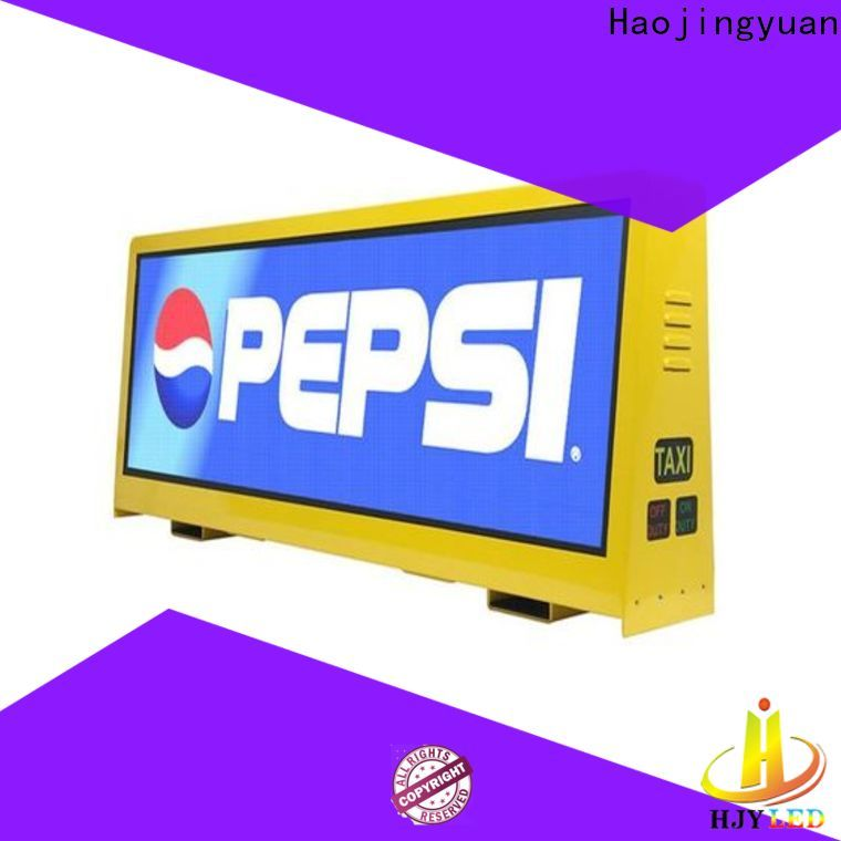 Haojingyuan Best taxi led display company for restaurant