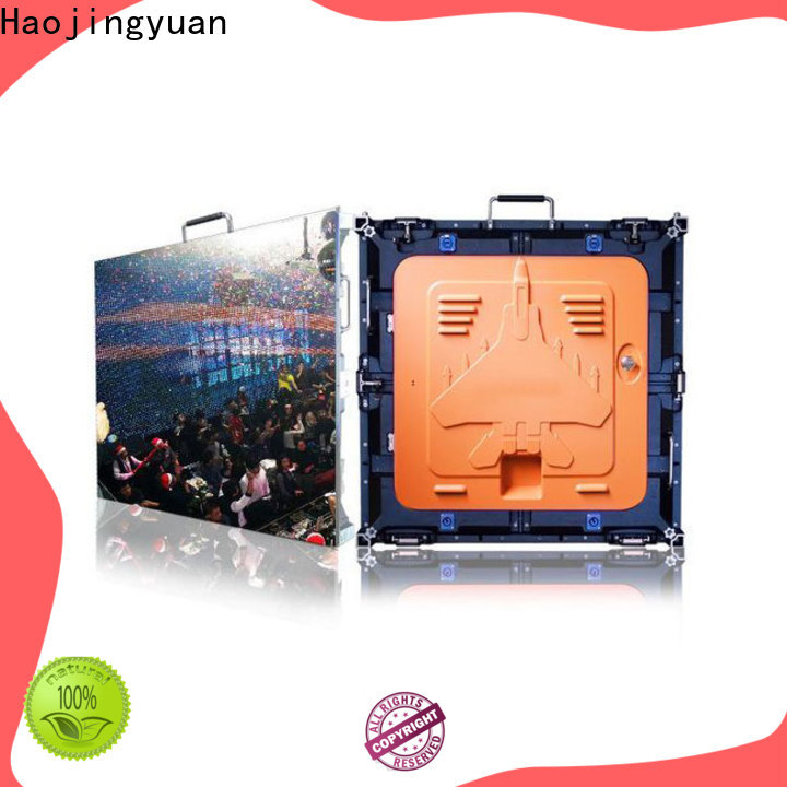 Haojingyuan Top digital signage led screen Supply for sea port