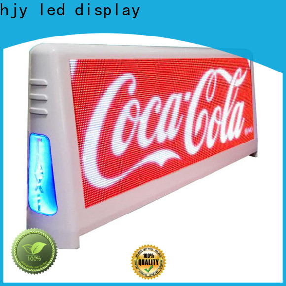 Haojingyuan Custom taxi top led display Supply for restaurant
