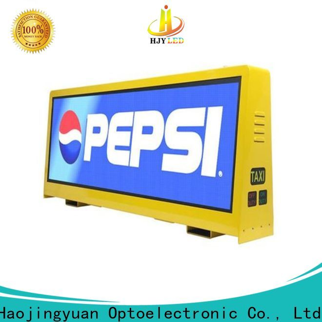 Haojingyuan 4500nits taxi top led display Supply for restaurant