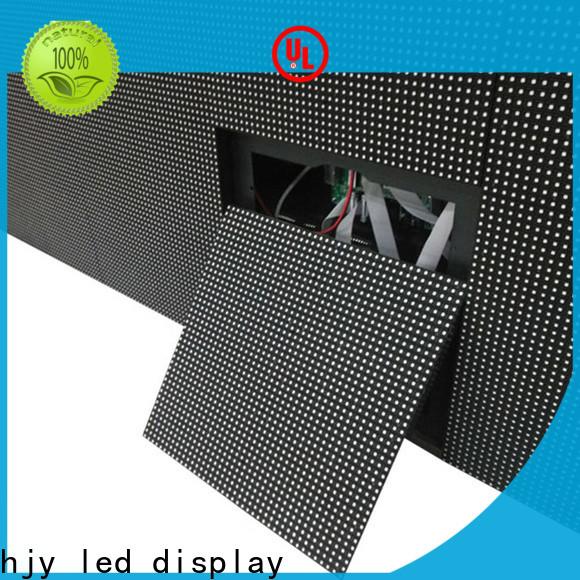 Haojingyuan waterproof indoor fixed led screen company for lobby