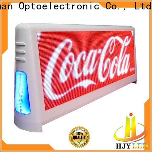 Haojingyuan Top taxi top led display company for shopping mall