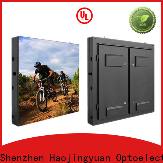 Haojingyuan resolution indoor led display factory for lobby