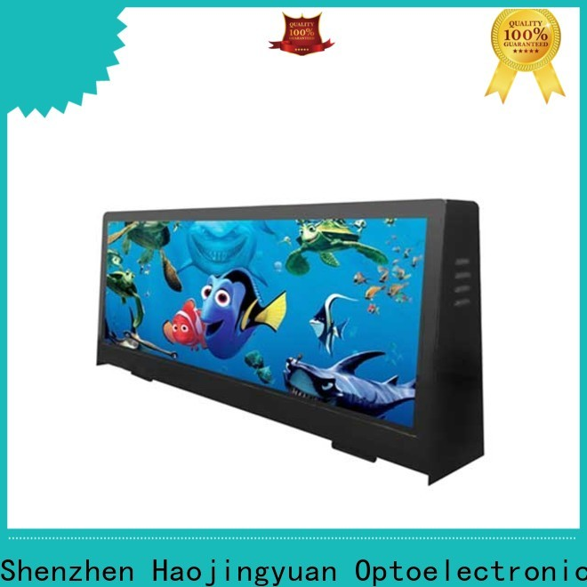 Haojingyuan 4500nits taxi top led display Suppliers for wedding