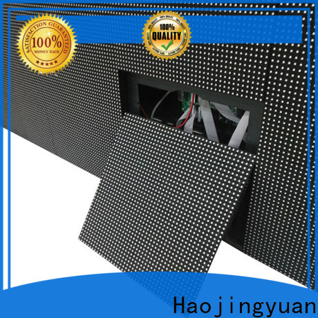 Haojingyuan mobile fixed led display company for lobby