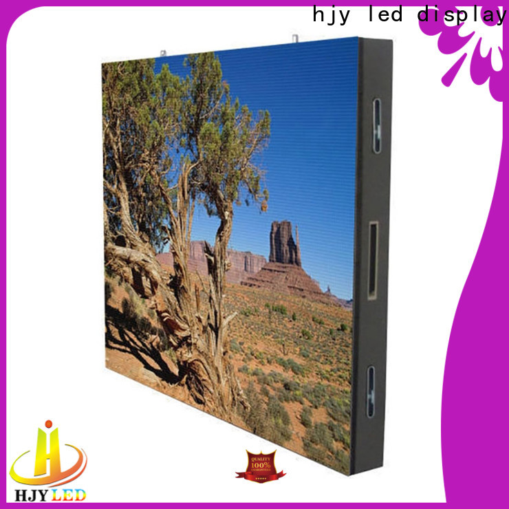Haojingyuan mobile advertising led display fixed Suppliers for lobby