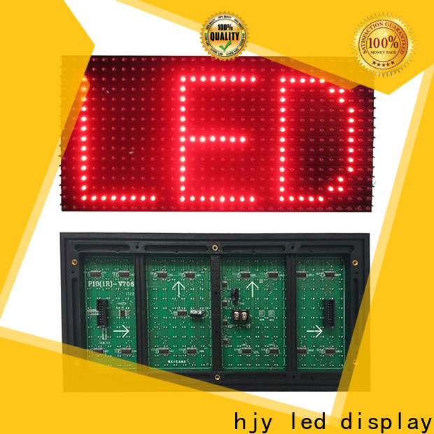 Haojingyuan single led display module manufacturers for cafeteria