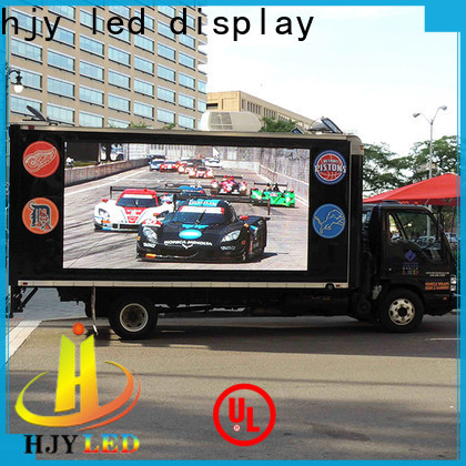 Haojingyuan poster truck mobile led display manufacturers for birthday party