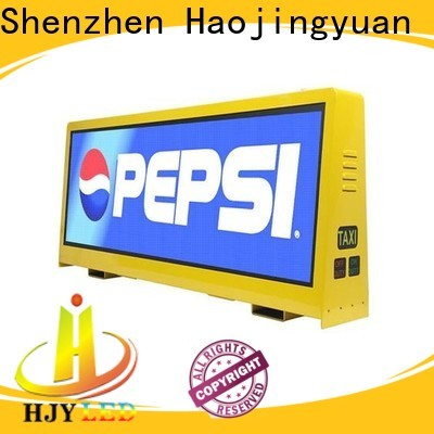 Haojingyuan led taxi led display for business for restaurant