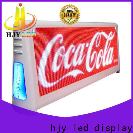 Haojingyuan 4500nits taxi led display Supply for wedding