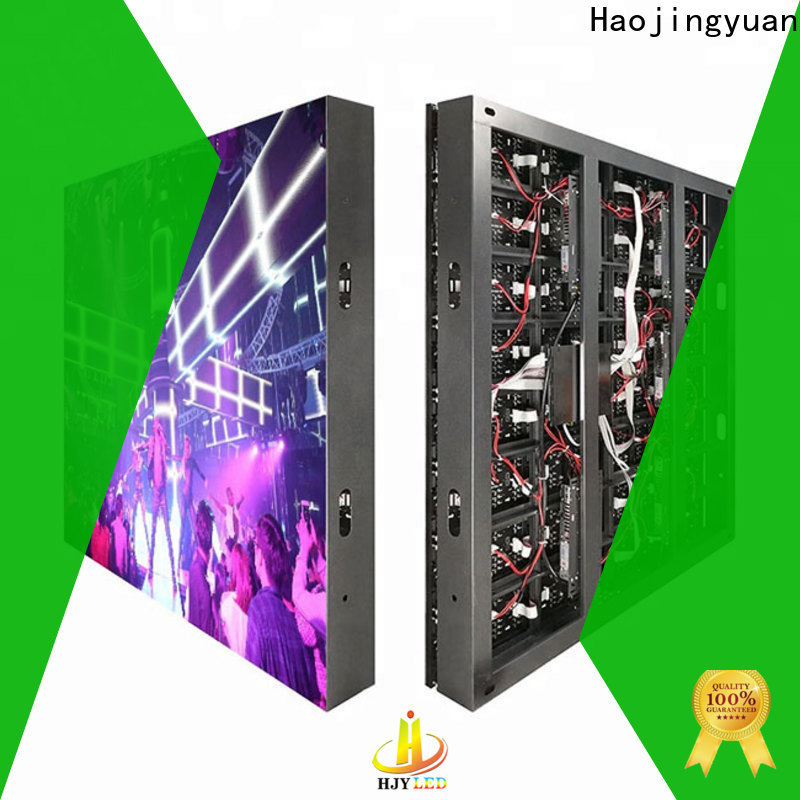 Haojingyuan Top outdoor led display Supply for school