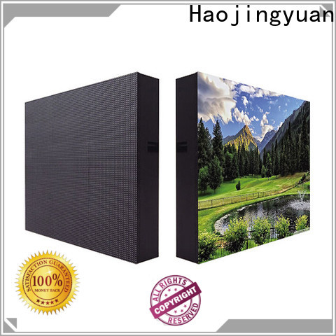 Haojingyuan board indoor led display manufacturers for hotels