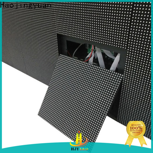 Haojingyuan strong waterproof led display board for business for hotels