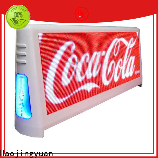 Haojingyuan top taxi led display company for wedding