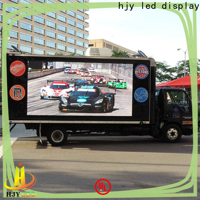 Haojingyuan poster mobile led display manufacturers for school