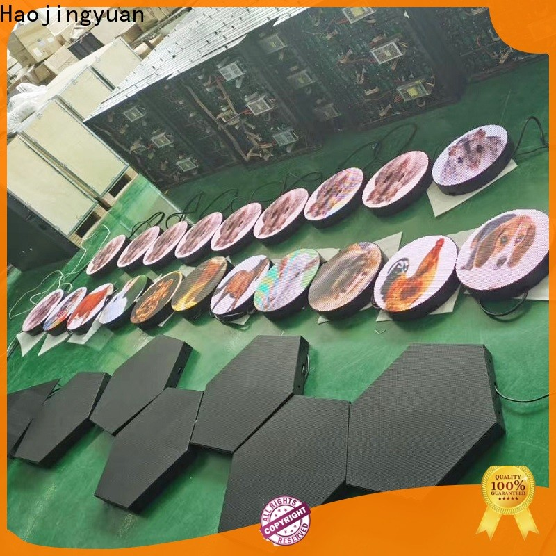 Haojingyuan Custom truck mobile led display Suppliers for birthday party