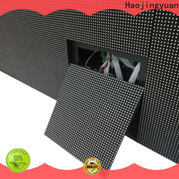 Haojingyuan strong led display fixed for business for hotels