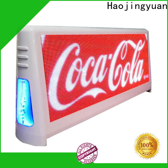 Latest taxi top led display brightness for business for restaurant