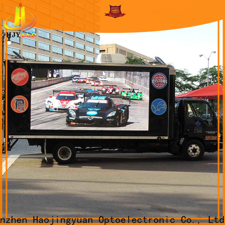 Haojingyuan High-quality truck mobile led display manufacturers for school