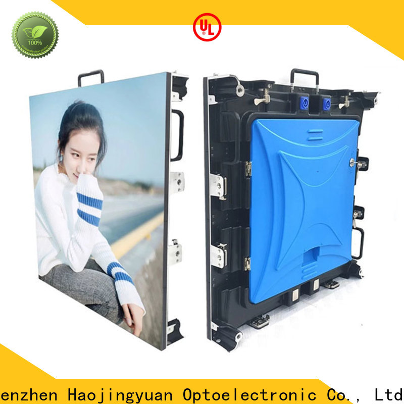 Haojingyuan video round led screen manufacturers for concert