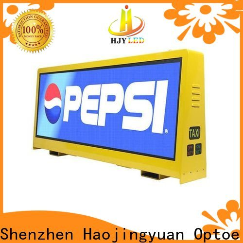 Haojingyuan Latest taxi led display Suppliers for restaurant