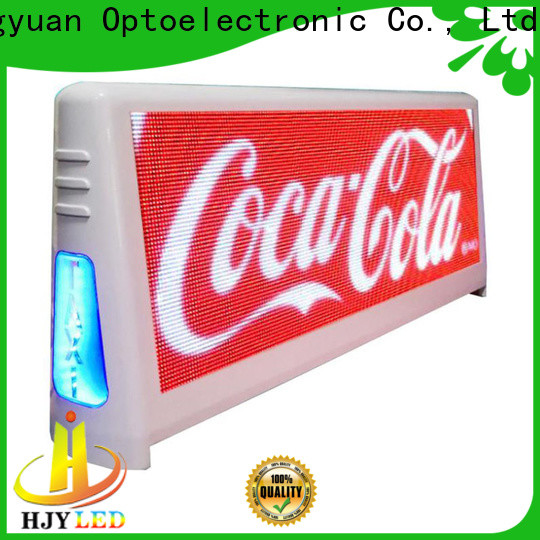 Haojingyuan High-quality taxi top led display Supply for restaurant